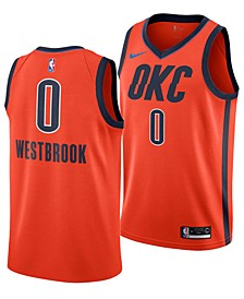 Russell Westbrook Oklahoma City Thunder Earned Edition Swingman Jersey, Big Boys (8-20)