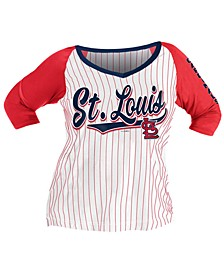 Women's Plus St. Louis Cardinals Raglan T-Shirt