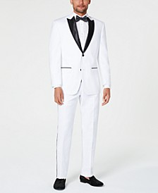 Men's Classic-Fit White Tuxedo Separates