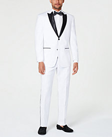 Sean John Men's Classic-Fit White Tuxedo Separates