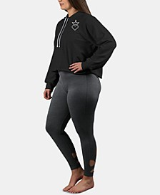 Curves Plus Size Cropped Hoodie
