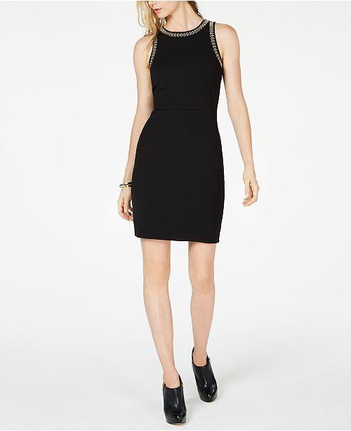 Michael Kors Embellished Apron Dress
