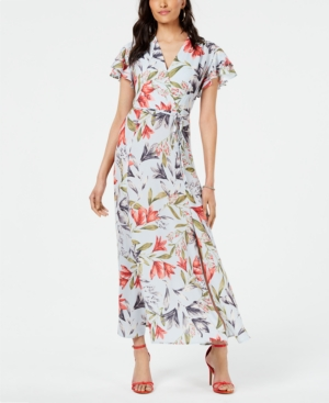 French Connection Dresses CADENCIA FAUX-WRAP MAXI DRESS