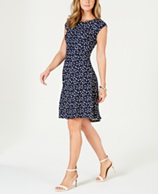 Robbie Bee Petite Printed A-Line Dress