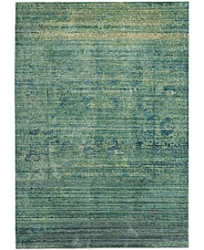 Mystique Green and Multi 4' x 6' Area Rug