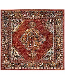 Safavieh Savannah Red 7' x 7' Square Area Rug