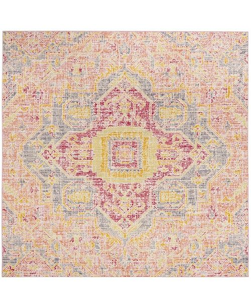 Safavieh Windsor Fuchsia and Blue 6' x 6' Square Area Rug