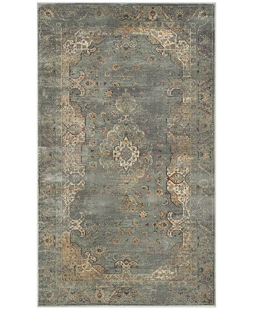 "Safavieh Vintage Gray and Multi 3'3"" x 5'7"" Area Rug"