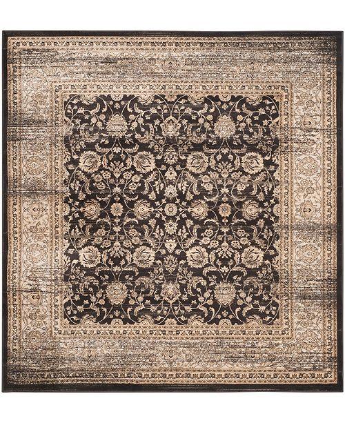 "Safavieh Vintage Black and Ivory 6'7"" x 6'7"" Square Area Rug"