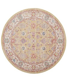 Safavieh Windsor Gold and Lavender 6' x 6' Round Area Rug