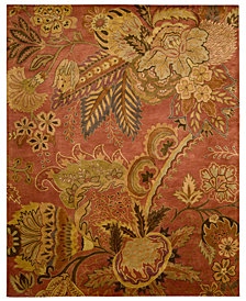 "Nourison Area Rug, Rajah Collection JA43 Nasi Flame 5'6"" x 8'6"""