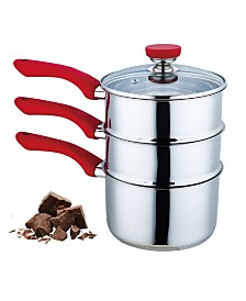 Culinary Edge 4 Piece Double Boiler Set - 3QT