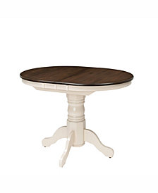 "CorLiving Extendable Oval Pedestal Dining Table with 12"" Butterfly Leaf"