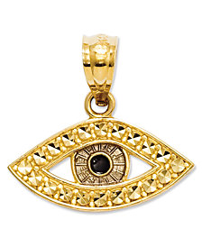 Evil eye jewelry shop for and buy evil eye jewelry online macys 14k gold charm evil eye charm aloadofball Choice Image