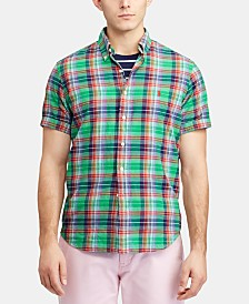 Polo Ralph Lauren Men's Big & Tall Classic Fit Cotton Madras Shirt