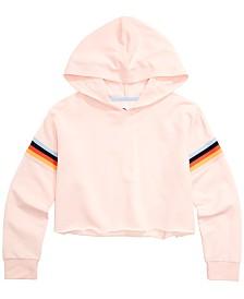 Epic Threads Big Girls Striped Sleeve Sweatshirt, Created for Macy's