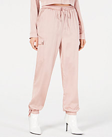 Material Girl Juniors' Cargo Jogger Pants, Created for Macy's