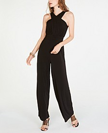 INC Halter-Neck Wide-Leg Jumpsuit, Created for Macy's
