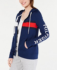 Colorblocked Graphic Hoodie