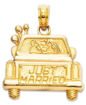 14k Gold Charm, Just Married Charm
