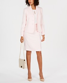 Le Suit Textured Skirt Suit