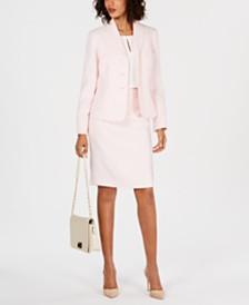 Le Suit Petite Shawl Lapel Skirt Suit