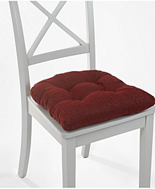 The Gripper Non-Slip Tyrus Tufted Chair Pad Cushion, Set of 2