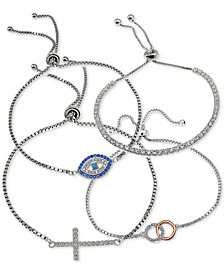 Cubic Zirconia Bolo Bracelet Collection, Created for Macy's