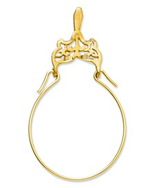 14k Gold Charm Holder, Filigree Charm Holder