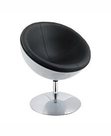 Corliving Modern Bonded Leather Swivel Circular Chair