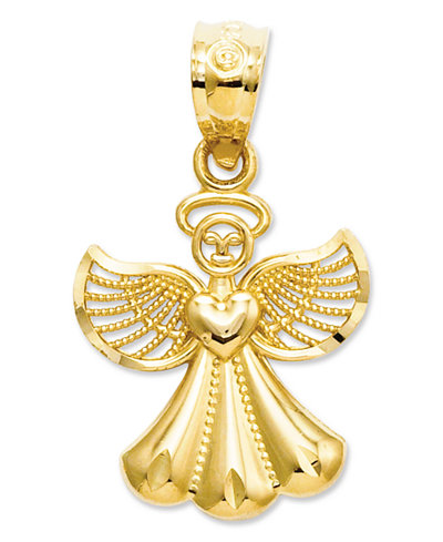 14k Gold Charm Polished Angel Charm Jewelry Amp Watches