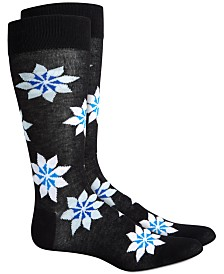 AlfaTech by Alfani Men's Snowflake Socks, Created for Macy's