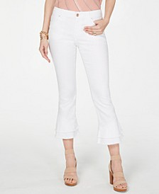 INC Double-Ruffle Hem Curvy Ankle Jeans, Created for Macy's