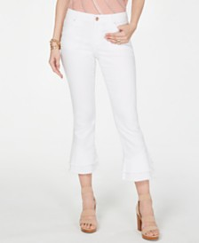 I.N.C. Double-Ruffle Hem Curvy Ankle Jeans, Created for Macy's