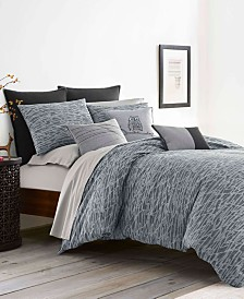 Ellen Degeneres Boceto Grey Comforter Set, Full/Queen