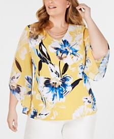 8d2d7cbdc31e3 Plus Size Tops - Womens Plus Size Blouses   Shirts - Macy s