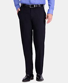 Haggar Men's Premium Comfort Classic-Fit 4-Way Stretch Wrinkle-Resistant Flat-Front Dress Pants