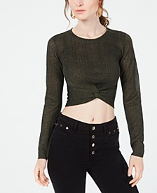 Soleil Twist-Front Cropped Top