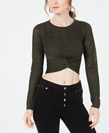 GUESS Soleil Twist-Front Cropped Top