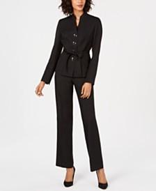 Le Suit Belted Pantsuit