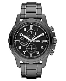 Men's Chronograph Dean Smoke Ion Plated Stainless Steel Bracelet Watch 45mm