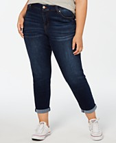 bb4fc4fc336 Celebrity Pink Trendy Plus Size Ripped Girlfriend Jeans