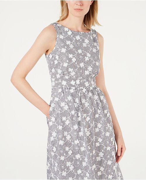 78b8ee80f192 Calvin Klein Embroidered A-Line Dress   Reviews - Dresses - Women ...