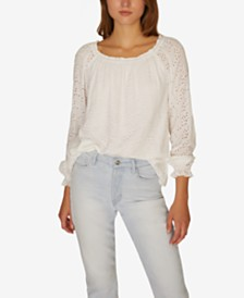 Sanctuary Blooming Eyelet Top