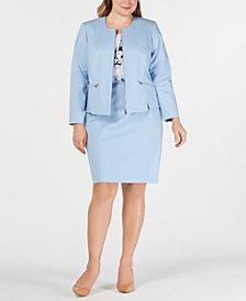 Calvin Klein Plus Size Scalloped Jacket & Pencil Skirt