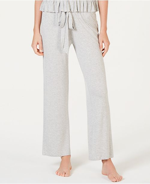 INC International Concepts I.N.C. Ultra Soft Knit Ruching Pajama Pants, Created for Macy's