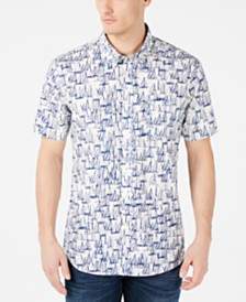 Barbour Men's Slim-Fit Boat-Print Shirt