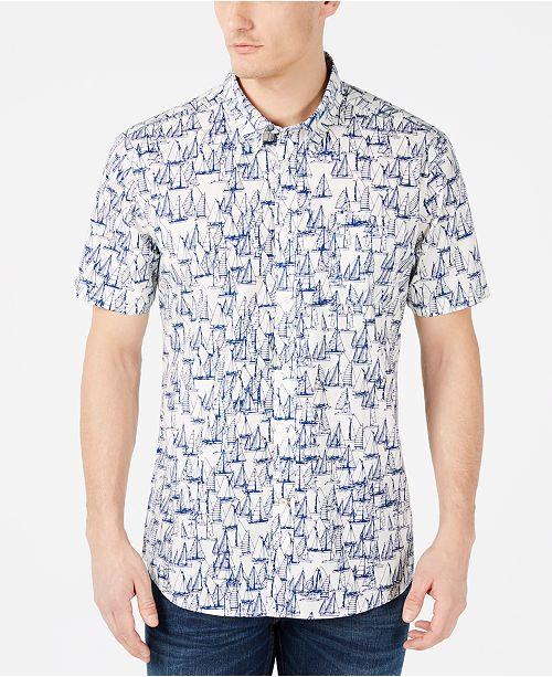 Barbour Men's Slim-Fit Boat-Print Shirt
