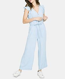 Mica Flutter-Sleeve Jumpsuit