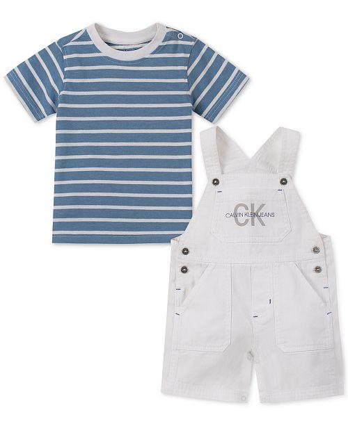 a52552865 Calvin Klein Baby Boys 2-Pc. T-Shirt & Shortalls Set & Reviews ...